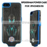 spider-man design cell phone power bank 2400mAh made in china