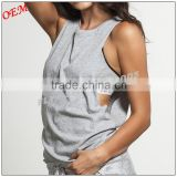 100% Cotton Jersey Low armhole muscle tank in light weight top for women                                                                         Quality Choice