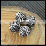 LFD-00C3 14MM Round Shape Pave Rhinestone Crystal Magnetic Clasp For Jewelry Making Bracelets necklace