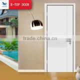 E-TOP white color MDF solid composite wood door for hotel