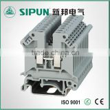 UK4 screw wire connector din rail terminal block