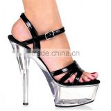 17cm high-heeled sandals sexy women's shoes steel pipe dance shoes lady gaga 6 inch rivet ankle strap high heels