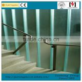 U channel glass railing with aluminum profile designs