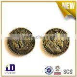Factory price antique gold custom made high quality metal token coin