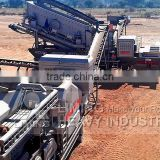 Liming aggregate portable crushing plant for one trailer