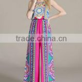 new bohemian women wide leg backless halter neck strappy palazzo jumpsuit