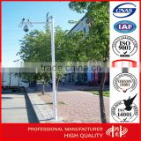 H 8m HDG Telescopic cctv Camera Mast Steel monitor pole for Monitoring System