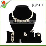 JQ014 -2 african beads jewelry set african tulle lace fabrics for party african beaded jewelry george lace
