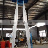 CE ISO BV Approve single one man person lift two-mast luxury aluminum alloy lift/home elevator/Movable hydraulic aluminum lift/