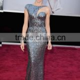 Naomi Watts Silver Sequins Formal Dress 2013 Oscar Awards Red Carpet DressTPD241