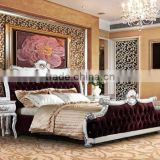 fashion bedding set / italian bedroom furniture set / classic wood double modern furniture designs YB64