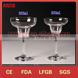 Novel design stemware cocktail mixing glass