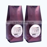 one-way valve coffee packing bags/side gusset coffee bag