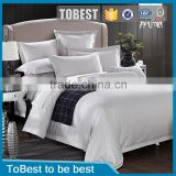 ToBest Hotel supplies Wholesale 100% cotton quality bedroom set classic white lattice bedding