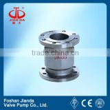 API 300lb flange end 4 inch stainless steel check valve