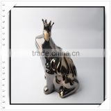 Frog Ceramic Candle Holder with Crown