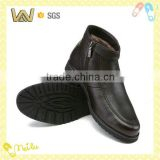 Fur lining men dress shoes in genuine leather
