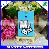 wholesale cheap bulk PVC soft thermal baggage tag