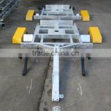 Hot dip galvanized OEM welding service of steel trailer frame for LED transportation trailer