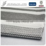 longline wholesale blank pullover hoodies by jacquard cotton bedding fabric and cotton yarn dyed shirt grey fabric