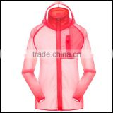 Sexy Sport Wear Ultra Thin Anti UV Waterproof Quick Dry Hooded Cardigan JacketWind jacket,anti-UV,light weight jacket,UV protec