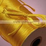 Satin cord Jewelry making supplies-bright yellow color china knot satin cord for jewelry DIY making and craft supplies