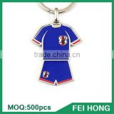 China Supplier metal two sided souvenir blank soccer key ring