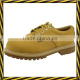 Nubuck leather rubber sole goodyear welted construction safety shoes