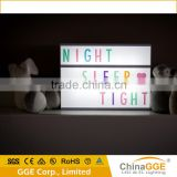 Cinematic Lightbox Cinema Personalised Light Up Box Board Display Colour Letters                                                                         Quality Choice
