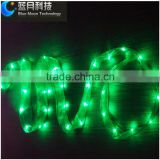 2meter 20led copper wire string light with green color ribbon for gift packaging and Christmas decoration