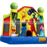 Sesame Street Inflatable Bounce House Jumper Moonwalk, Inflatable Jumping Bouncer