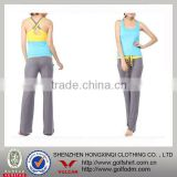 2013 Hot sell Polyester/Spandex Ladies Sexy Fitted Fitness Tops and Pants