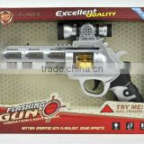 Plastic B/O Gun toys,Battery Operated Space Gun toys,electric space toy gun with flashing light and IC sound for children