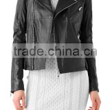 synthetic leather jacket women