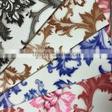 PVC artificial leather with film emboss surface ,with classical flower design ,popular use for sofa ,chair cover ,handbags