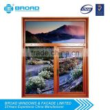 Hot sale aluminum windows and doors,casement window, with wood clab from China supplier Broad