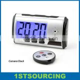 Multi-function Alarm Clock Hidden Camera With Remote Controller, Motion Detection Mini Clock Camera