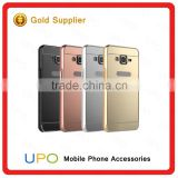 [UPO] New Arrival Mirror Metal Aluminum Bumper Acrylic Plastic PC Back Cover Case for Samsung Galaxy J7