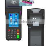 Touch screen Linux handheld pos system with receipt thermal printer QR barcode scanner 3G WIFI