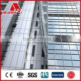 aluminum composite panel made of fireproof plastic core with two layers of aluminum sheets for decorative use