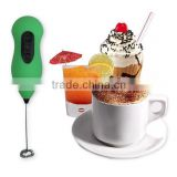 stainless steel machine coffee mixer mini handheld electric egg beater AA battery powered