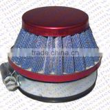 44MM Air filter Blue Grid Red Cap Mini Moto Dirt Pit Bike ATV Quad Scooter Buggy Pocket Parts