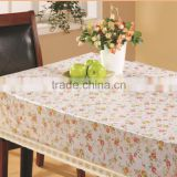 JY-2353 Laminated PVC tablecloth with non-woven/flannel backing( golden/silver partial printing)