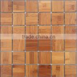 Carbonized Mosaic Bamboo Wallpaper