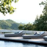Outdoor Chaise Lounge Alu Frame Rope Weave Axvision Fabric Garden Beach Side Swimming Pool Side