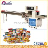 cake flow wrapping packaging machine/automatic food packaging machine for coffee , cake , bread , soap ,industrial parts ,tray