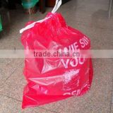 ldpe/hdpe biodegradable compostable rubbish/garbage plastic bags with drawstring on roll