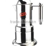 China New Product 4cup silver moka coffee maker