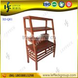 Bakery display shelves, bread display rack, wooden bread shelf