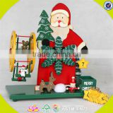 wholesale baby wooden hand crank music box Santa Claus kids wooden hand crank music box W07B006A